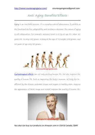 Anti aging benefits