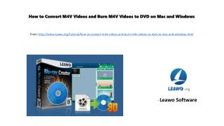 How to convert m4 v videos and burn m4v videos to dvd on mac and windows