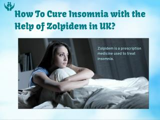 Zolpidem Sleeping Tablets
