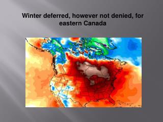 Paul Hayward Bangkok | Winter deferred, however not denied, for eastern canada