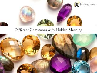 Different Gemstones with Hidden Meaning