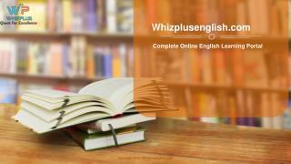 Online english learning education portal