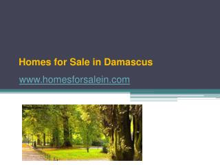 Homes for Sale in Damascus - www.homesforsalein.com