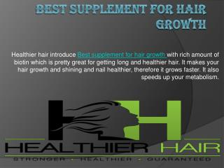 Vitamin for hair