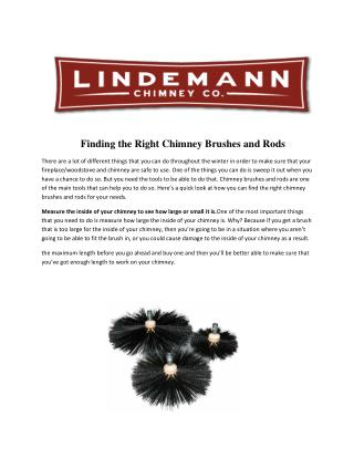 Finding the right chimney brushes and rods