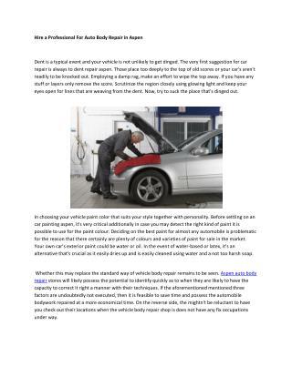 aspen auto body repair