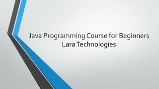 Java Programming Course for Beginners