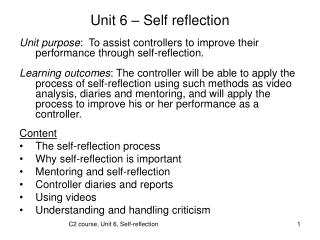 Unit 6   Self reflection