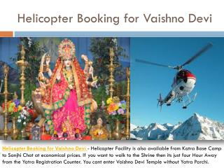 Helicopter Bookings for Vaishno Devi