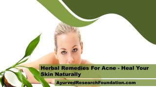 Herbal Remedies For Acne - Heal Your Skin Naturally