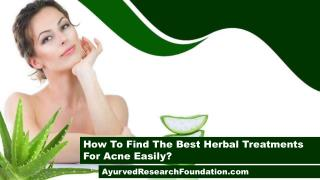 How To Find The Best Herbal Treatments For Acne Easily?