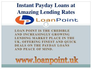 Instant Payday Loans Best Resource for Lending