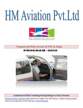 Commercial Pilot Training Giving Wings to Your Dreams