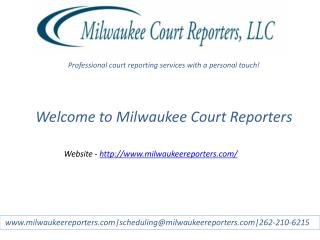 Milwaukee court reporters