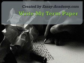 Write My Term Paper