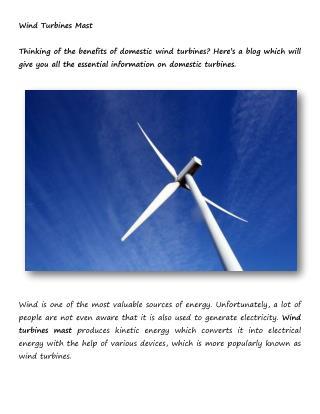 Wind Turbine Mast