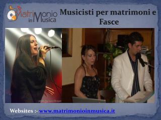 Noleggio Musicisti Professionali per il Tuo Matrimonio