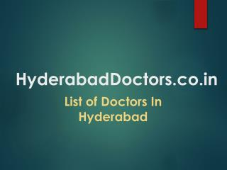 Hyderabad Doctors | List of Best Doctors in Hyderabad | Book Doctors Appointment Online | Clinics & Doctors in Hyderabad