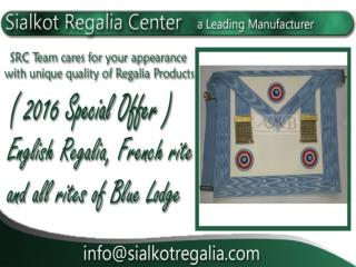 Worship Master Apron French regalia