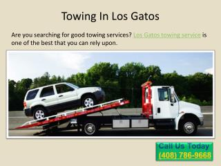Towing in Los Gatos