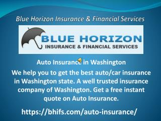 Auto Insurance in Washington