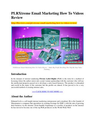 Download PLRXtreme Email Marketing How To Videos