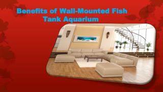 Benefits of Wall-Mounted Fish Tank Aquarium