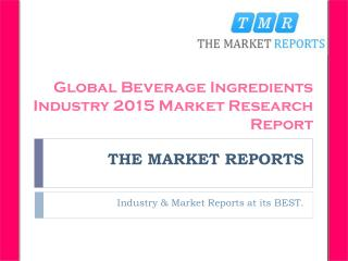 New Project Investment Feasibility Analysis of Beverage Ingredients Forecast Report 2016-2021