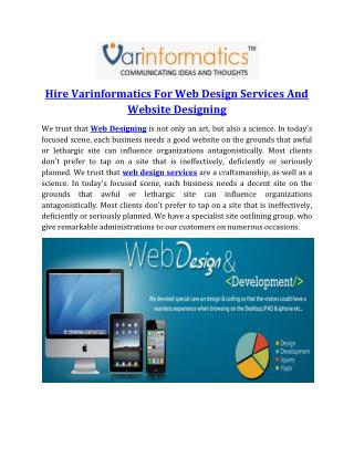 Hire Varinformatics For Web Design Services And Website Designing