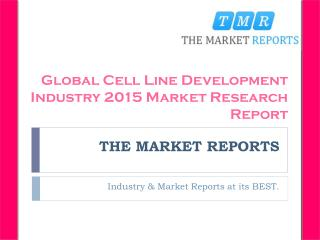 Analysis of Cell Line Development Revenue Market Status 2016-2021 Forecast