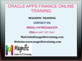 Oracle Finance Online Training in USA