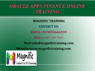 Oracle Apps SCM Online Training in USA| UK