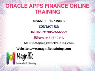 Oracle finance Online Training in uk