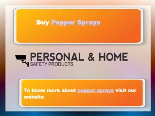 Pepper Sprays