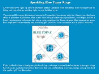 Sparkling Blue Topaz Rings