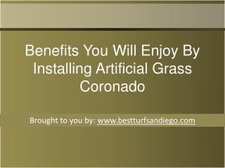 Benefits You Will Enjoy By Installing Artificial Grass Coronado