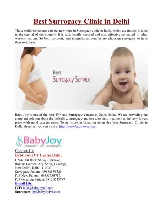 Best Surrogacy Clinic in Delhi
