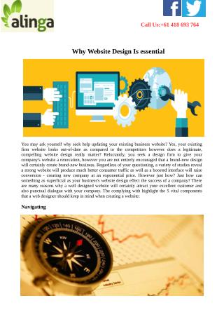 Why Website Design Is essential