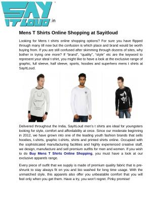 Mens T Shirts Online Shopping at Sayitloud