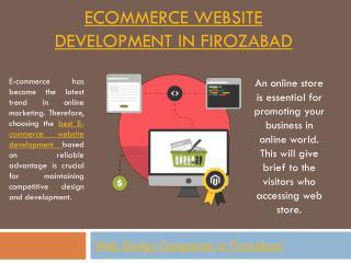 E-commerce website development company in Firozabad