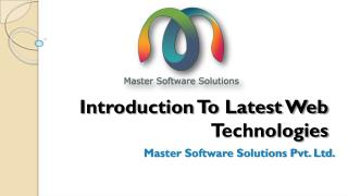 Introduction to the new web technologies
