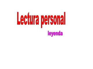 Lectura personal