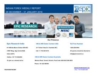 Epic Research Weekly Forex Report 28 Dec 2015