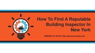 How To Find A Reputable Building Inspector In New York