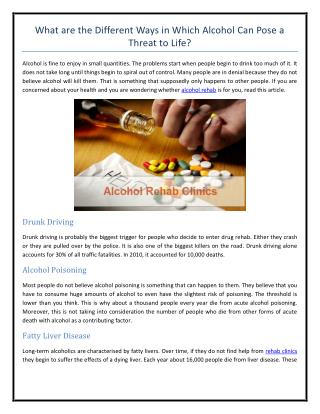 What are the Different Ways in Which Alcohol Can Pose a Threat to Life.pdf