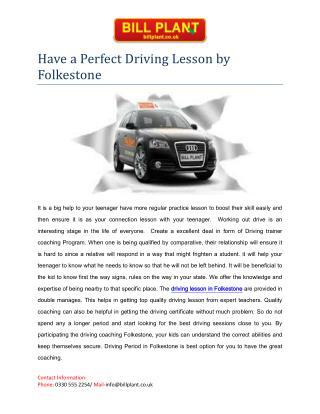 Driving lesson Folkestone