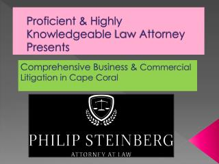 Comprehensive Business & Commercial Litigation in Cape Coral