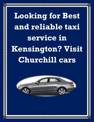 Taxi service Kensington