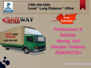 Residential Movers in Edmonton - Safe Way Moving