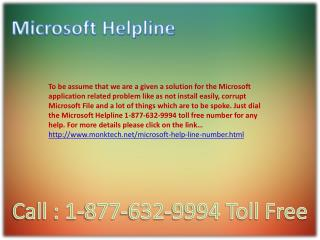 Microsoft Helpline ~!#!~ 1-877-632-9994 Toll Free Number